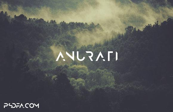 فونت انگلیسی Anurati