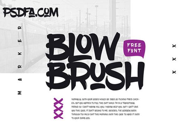 فونت فوق العاده زیبا و جذاب BlowBrush