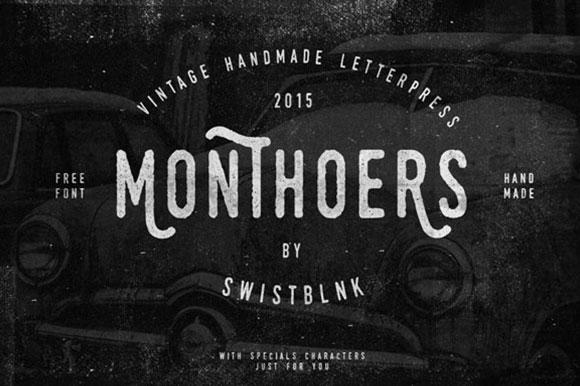 فونت انگلیسی Swistblnk Monthoers