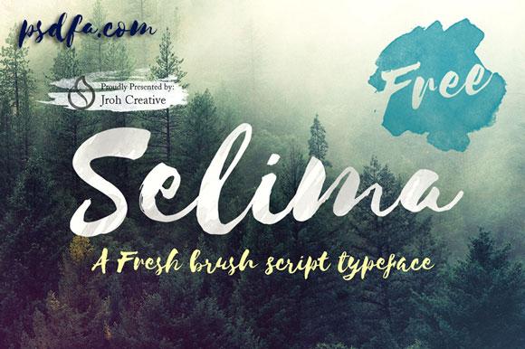فونت انگلیسی Selima