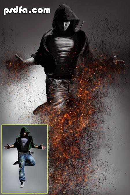 اکشن فتوشاپ Ashes and embers